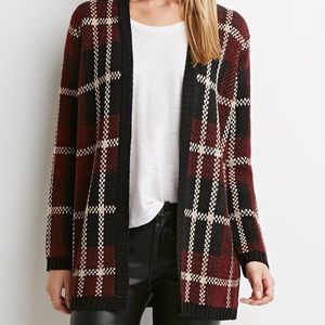 Forever21  | Plaid Open-Front Cardigan